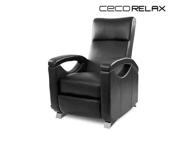 Cecorelax 6025 Hátradönthető Fekete Relax Masszázsfotel Cecorelax MASSZÁZSFOTEL