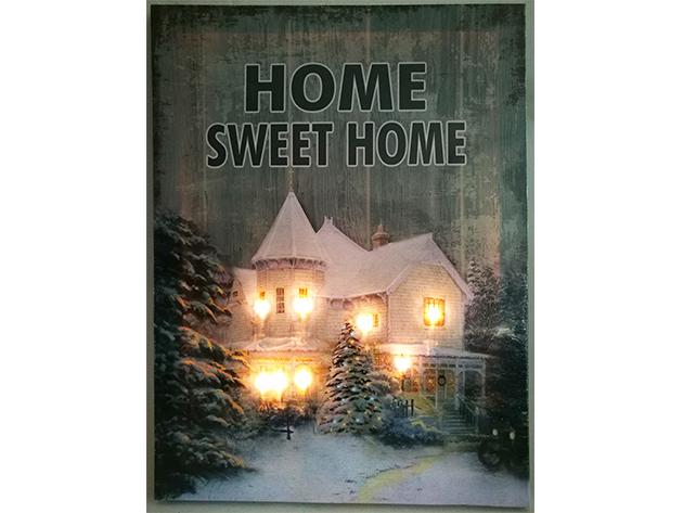 LED-es képek Home Sweet Home ERDEIHÁZ 30*40cm  - 218017