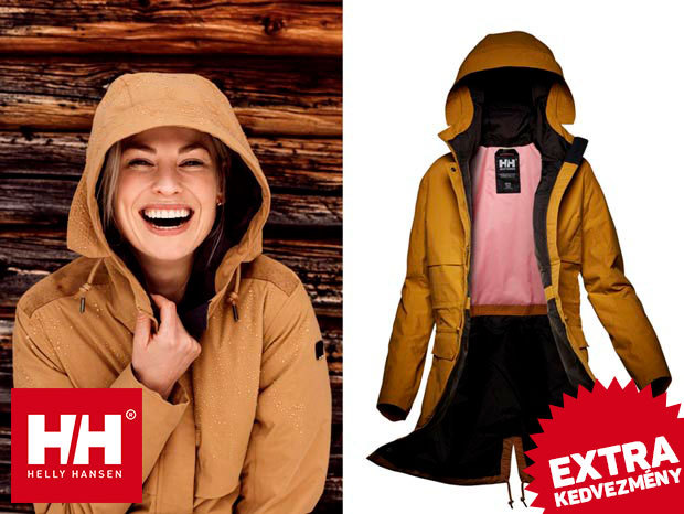 Helly Hansen W BOYNE PARKA női átmeneti kabát Helly Tech® Protection technológiával - vízálló, szélálló, lélegző anyag, sportosan nőies fazon