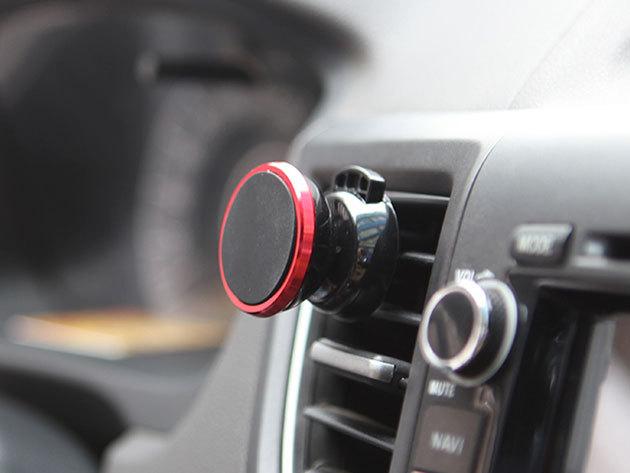 Autós telefontartó - forgatható, mágneses kialakítás / könnyedén egy-egy pillantást vethetsz a navigációs alkalmazásra, vagy beszélhetsz kihangosítva