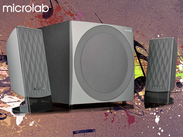 MICROLAB Hangfal szett - nagy teljesítményű kompakt sztereó hangszórók mélynyomóval