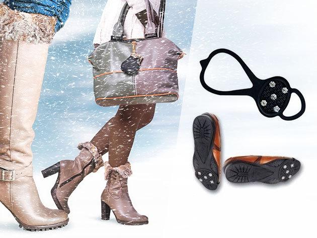 Csúszásgátló cipőre - hatékony védelem, erőteljes fém tüskékkel, univerzális méretben