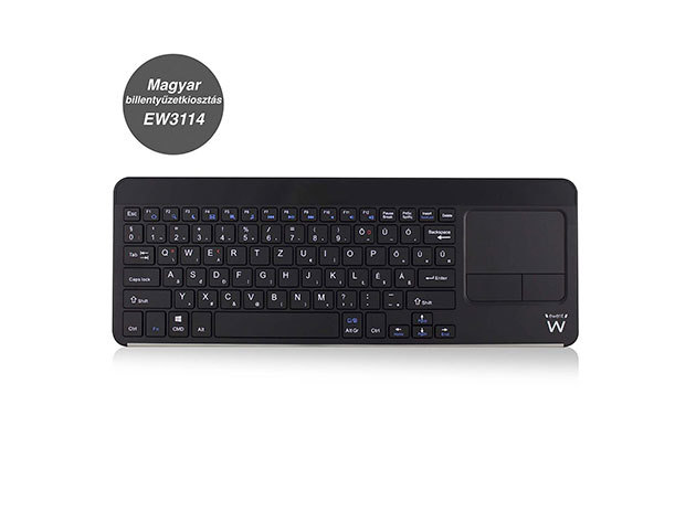 Ewent EW3114 Smart TV Keyboard with built-in Touchpad HU layout