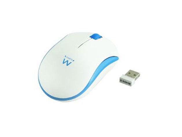 Ewent EW3210 Wireless mouse white-blue 1000dpi