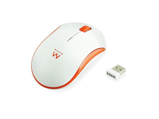 Ewent EW3211 Wireless mouse white-orange 1000dpi
