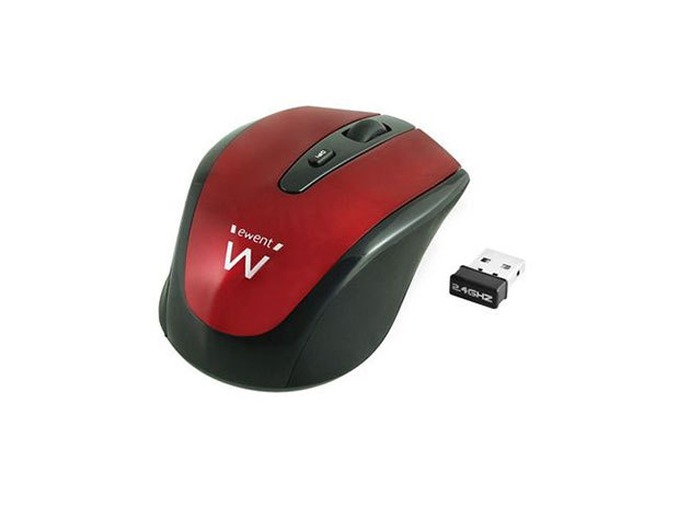 Ewent EW3217 Wireless mouse red 1000/1200/1600dpi