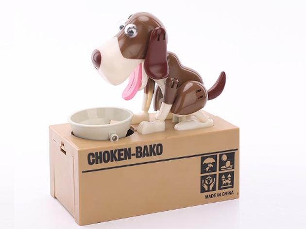 Interaktív persely, mely valósággal habzsolja az aprót - éhes kutyus, akivel a spórolás szórakoztató