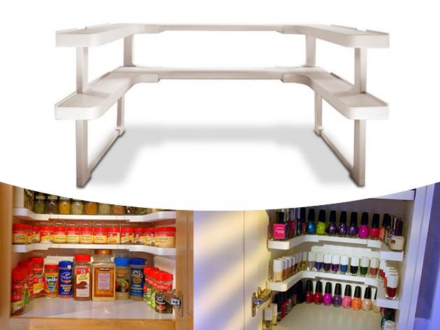 Szekrény rendszerező polc szett - Tárold átláthatóan  fűszereidet, kozmetikumaidat, vagy gyógyszereidet!