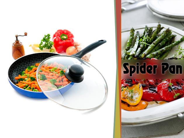 A Spider Pan serpenyővel a pénztárcádat és az alakodat is kímélheted egyszerre.