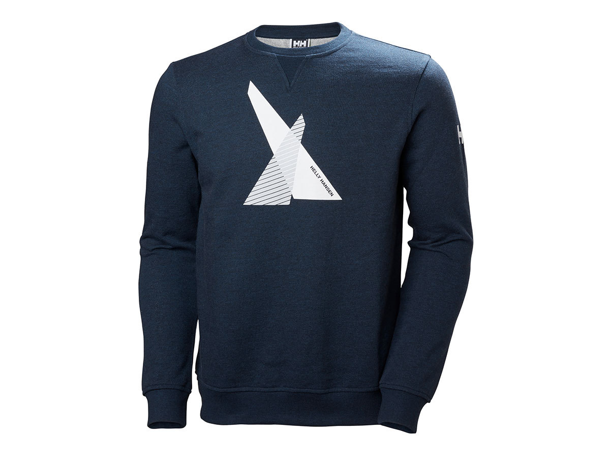 Helly Hansen HP SHORE FRENCH TERRY SWEATER NAVY MELANGE L (33987_597-L)