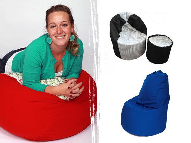 Óriási babzsákfotel - választható színben és méretben (130 - 330 liter) levehető és mosható huzattal, akár puffal / Extra kényelem, kiváló minőség