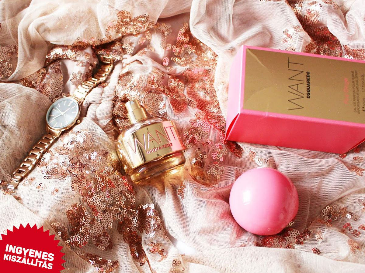 Dsquared2 - Want Pink Ginger EDP női parfüm (100ml) ingyenes kiszállítással / orientális-virágos illat