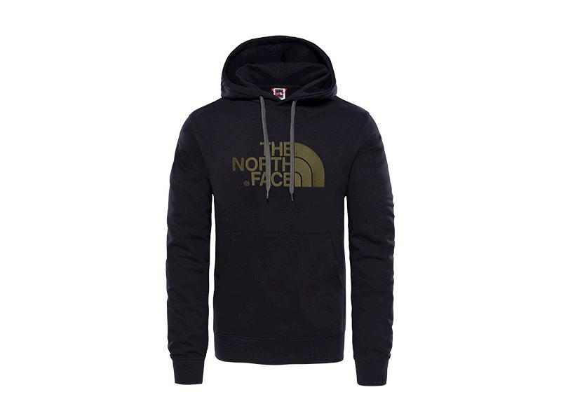 The North Face férfi pulóver M LT DREW PEAK PO HD BLACK/N.T.GREEN - T0A0TETY1 - M (UTÁNRENDELÉSRE)
