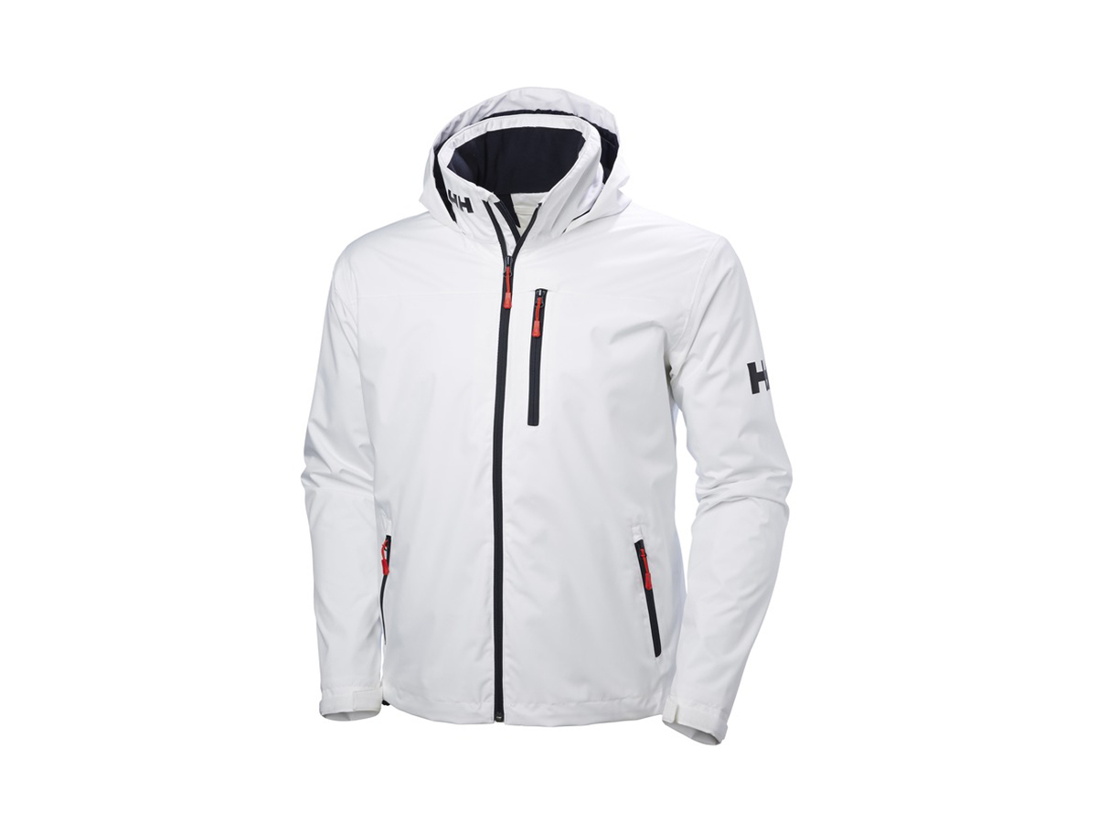 Helly Hansen CREW HOODED MIDLAYER JACKET - WHITE - XXXXL (33874_001-4XL )