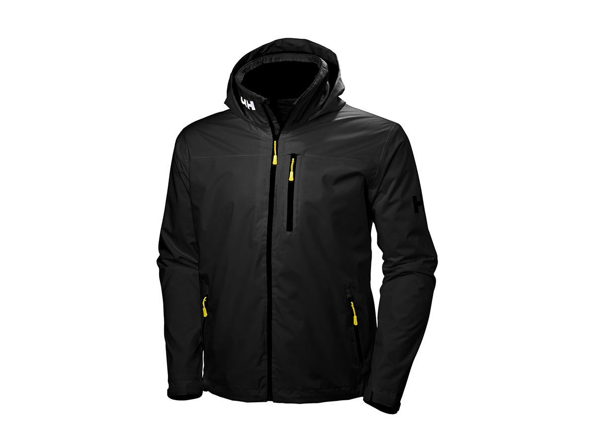 Helly Hansen CREW HOODED MIDLAYER JACKET BLACK M (33874_990-M)