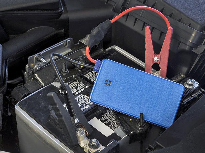 Hordozható autós mini bikázó és töltó, power bank - nagy teljesítményű (7500 MAH) multifunkcionális készülék