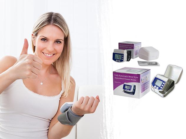 Csuklóra helyezhető pulzus és vérnyomásmérő nagy LCD kijelzővel - kényelmes automata felfújás és leeresztés