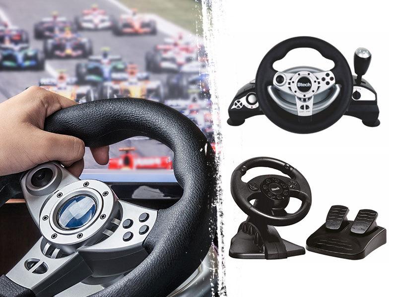 Btech kormány és pedál szettek PS2/PS3, Xbox360 és számítógépes játékokhoz - Taposd a gázt és száguldozz!