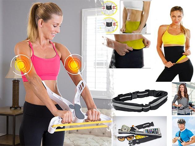Fitnesz eszközök: fogyasztó öv, karerősítő kondigép, értéktároló kiegészítő / Vágj bele, hozd magad formába nyárra!