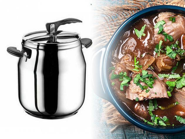 Prémium kukta (9 literes) és rozsdamentes fazék (20 literes) - kiváló minőségű konyhai eszközök az ízletes ételekért