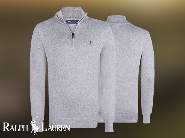 Ralph Lauren kötött férfi pulóver szürke színben 2094b65633