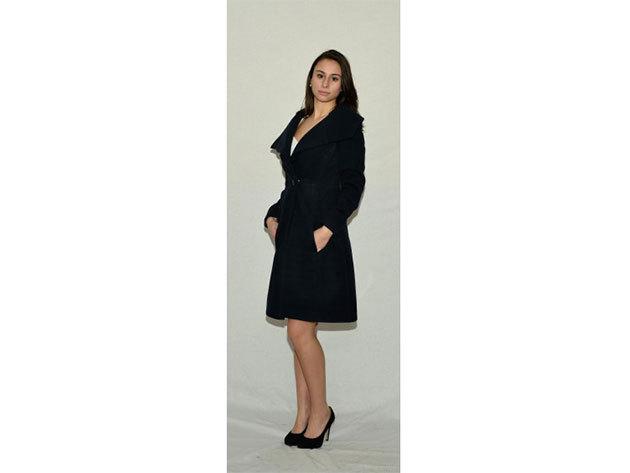 Toscana gyapjú kabát (fekete) - 34