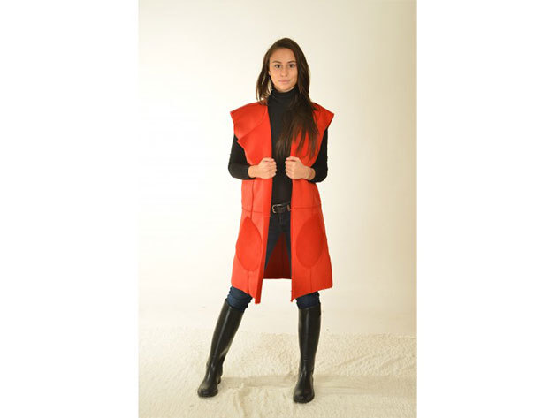 Trisete irha mellény (piros) - 36