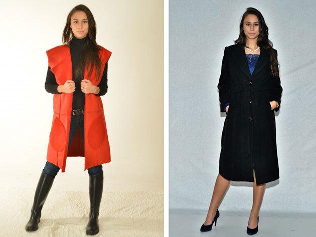 Elegáns női kabátok és mellények minőségi anyagból, 34-46 méretben, magyar gyártótól