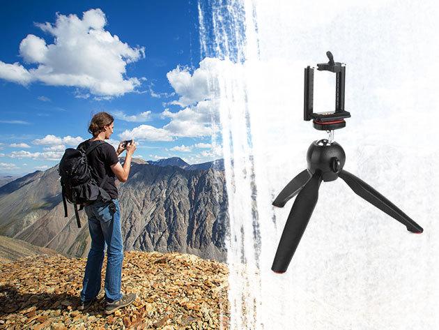 Kamera/telefon állvány - stabil 3 lábú kiegészítő, mely kis helyet foglal, jól jön nyaraláskor, kiránduláskor, rendezvényeken