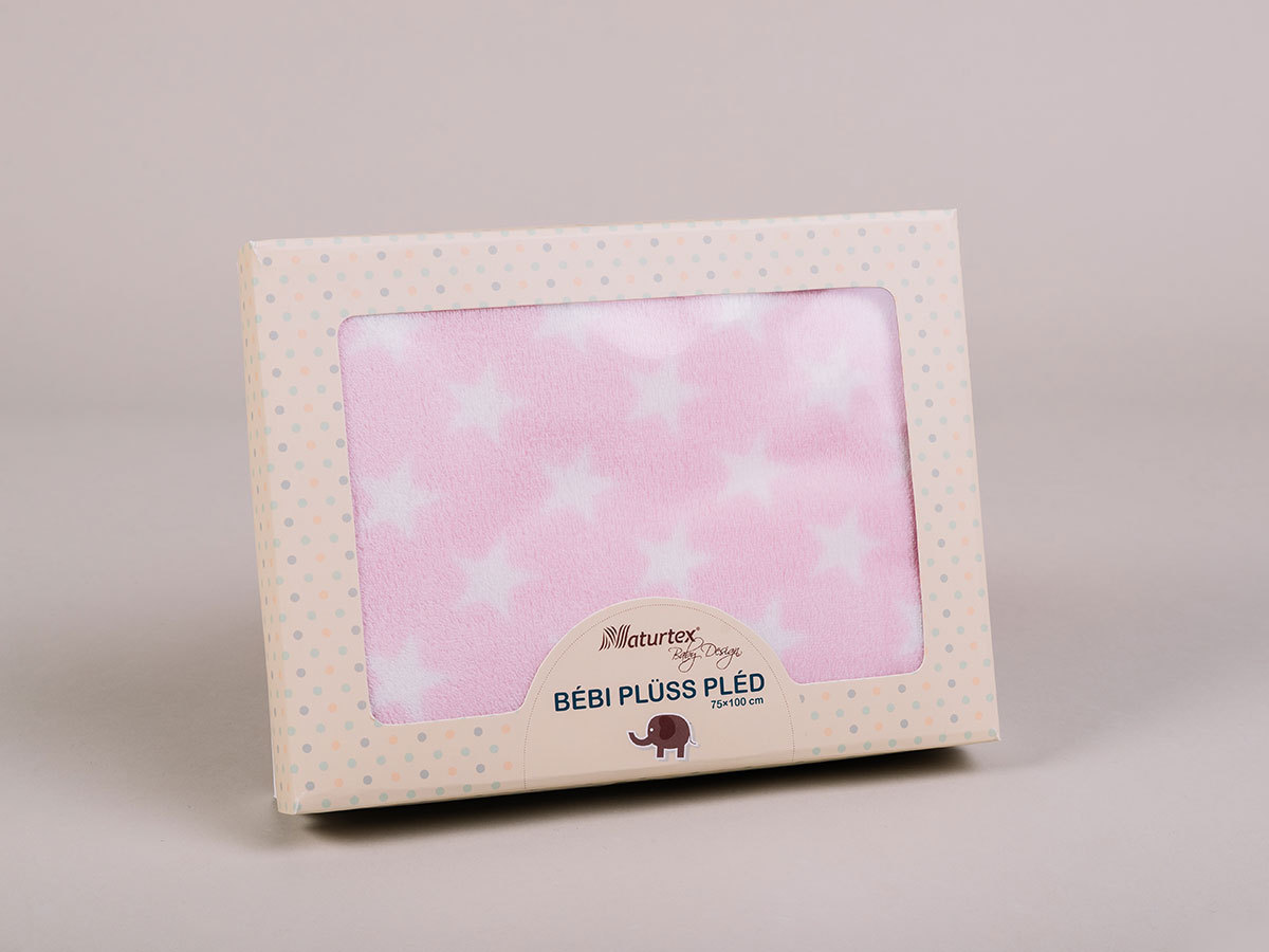 Pink Star baby plüss pléd (100x75) 5998306369226