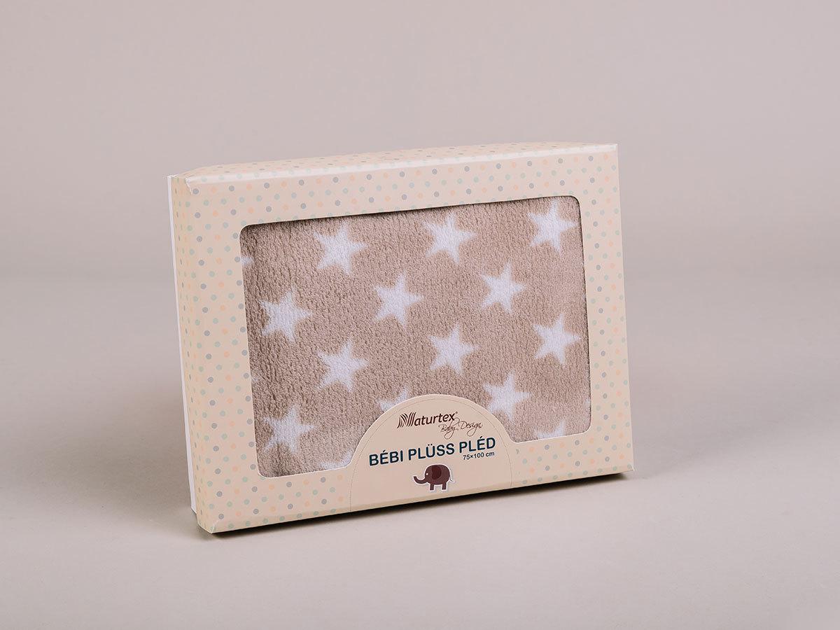 Beige Star baby plüss pléd (100x75) 5998306369233