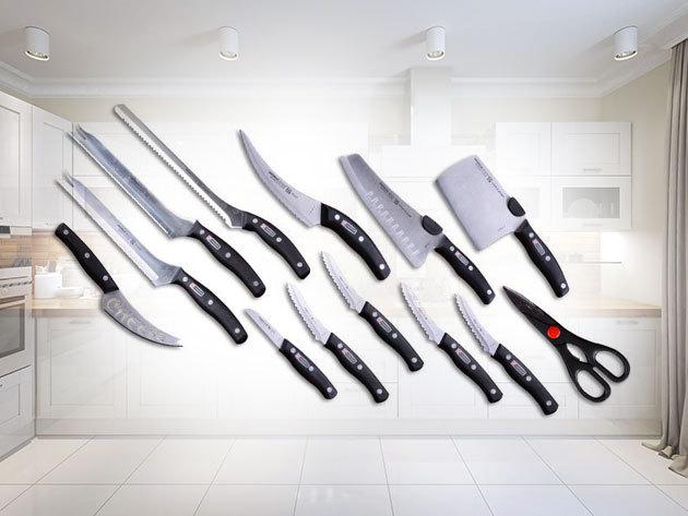 Miracle Blade 13 részes konyhai késkészlet rozsdamentes acélból, rendkívül éles pengékkel