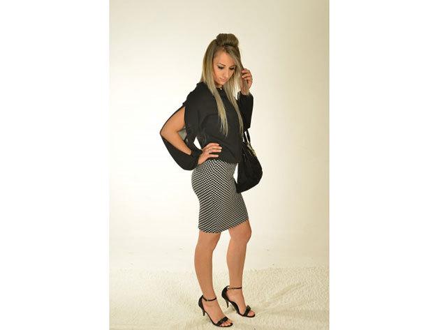 Alexia szoknya - fekete-fehér - 34