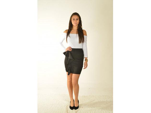 Velence szoknya - fekete - 34