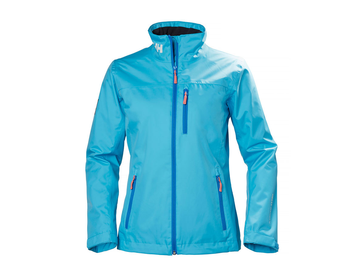 Helly Hansen W CREW MIDLAYER JACKET AQUA BLUE XS (30317_518-XS)