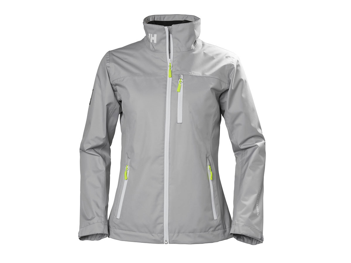 Helly Hansen W CREW MIDLAYER JACKET SILVER GREY XS (30317_820-XS)