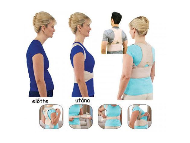 Rugalmas orvosi testtartás javító segédeszköz - kényelmes, tépőzárral méretre állítható