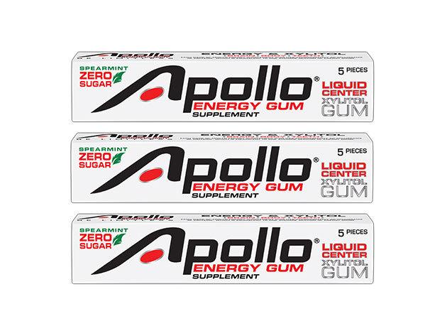 Apollo Energy Gum- A jövő egészséges, hordozható energiaforrása (3 csík=15 db)