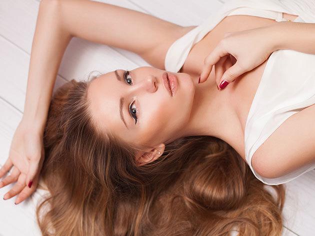 Keratinsokk - Luxus hajszerkezet építő kezelés a töredezett, igénybe vett haj regenerálására mosással, fejmasszázzsal, szárítással
