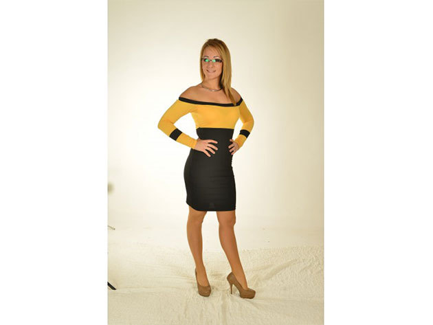 Madrid ruha - sárga/fekete - 34