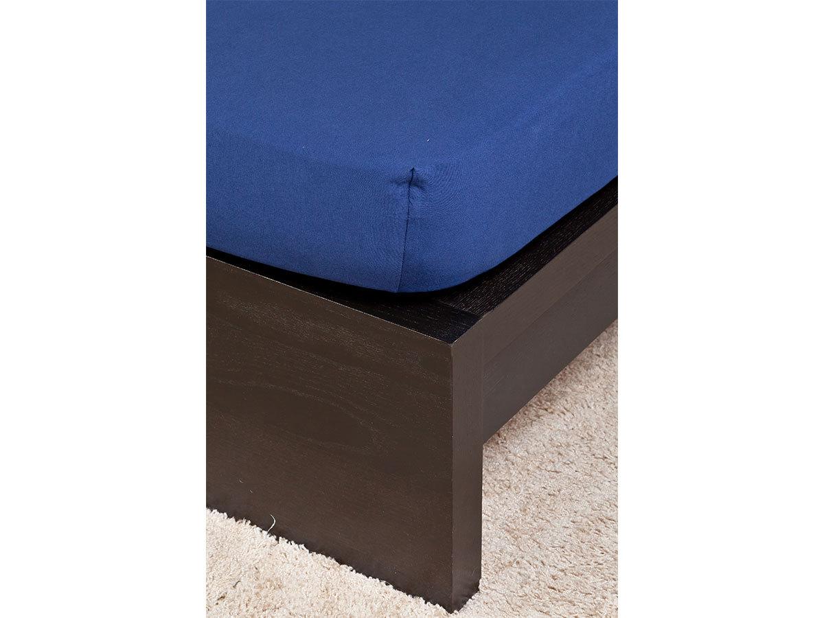 Jersey lepedő - 90-100x200cm - sötétkék