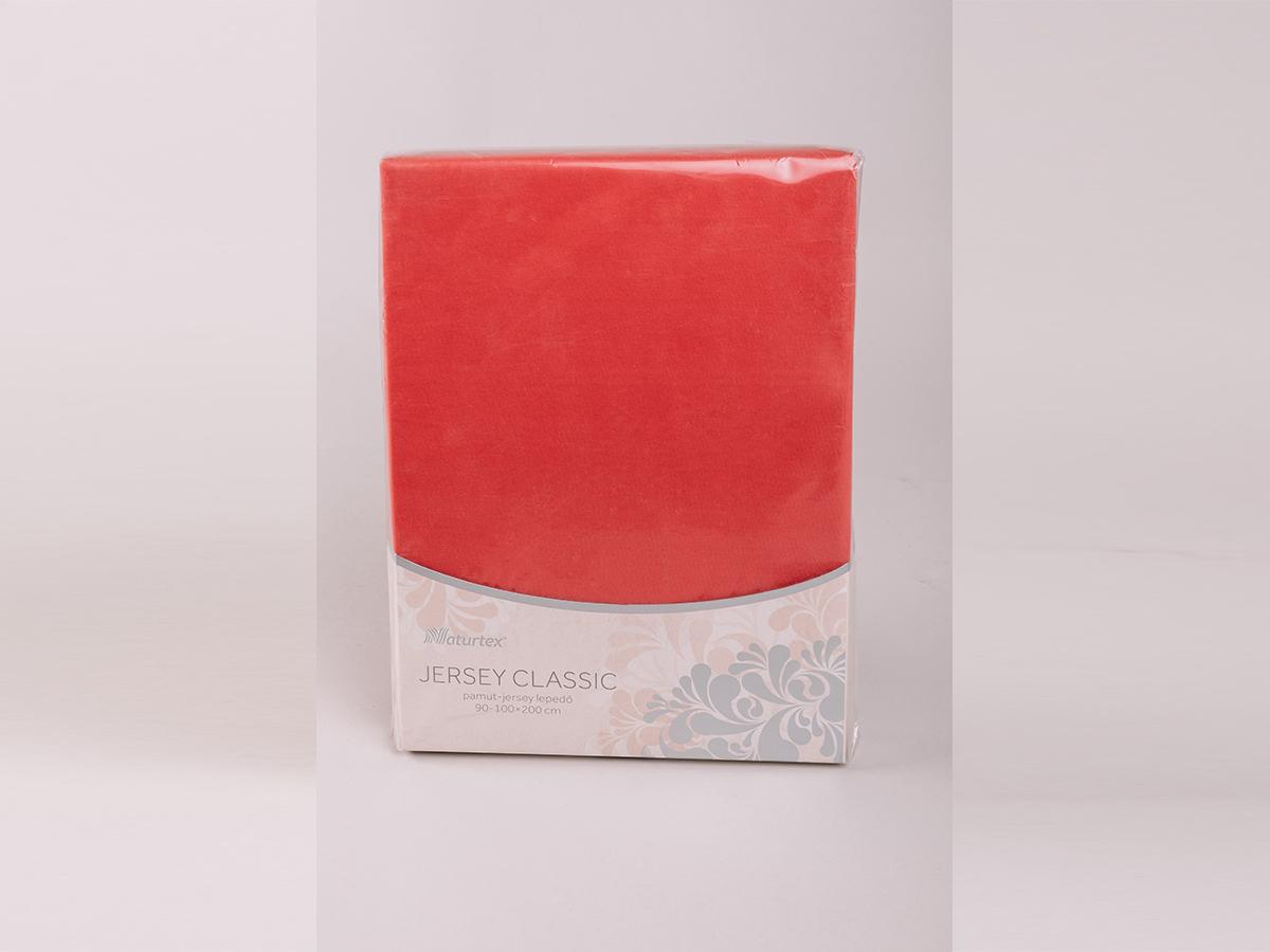 Jersey gumis lepedő 140-160x200cm - CHERRY