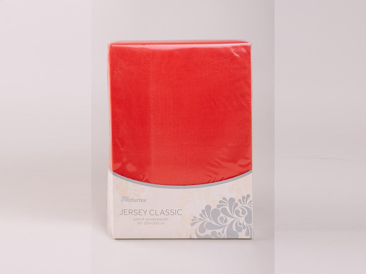 Jersey gumis lepedő 180-200x200cm - PIROS