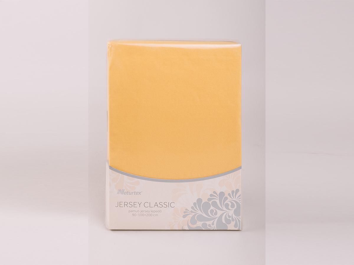 Jersey gumis lepedő 180-200x200cm - KUKORICASÁRGA