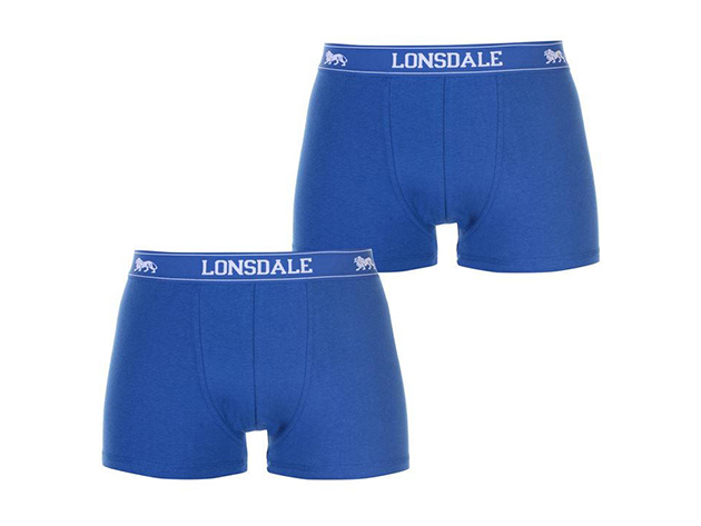 Lonsdale 2db-os férfi boxer csomag - 42201118 kék - L