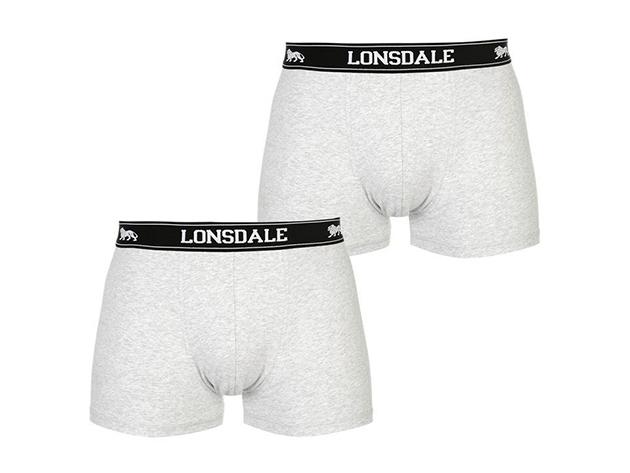 Lonsdale 2db-os férfi boxer csomag - 42201102 szürke/fekete - L