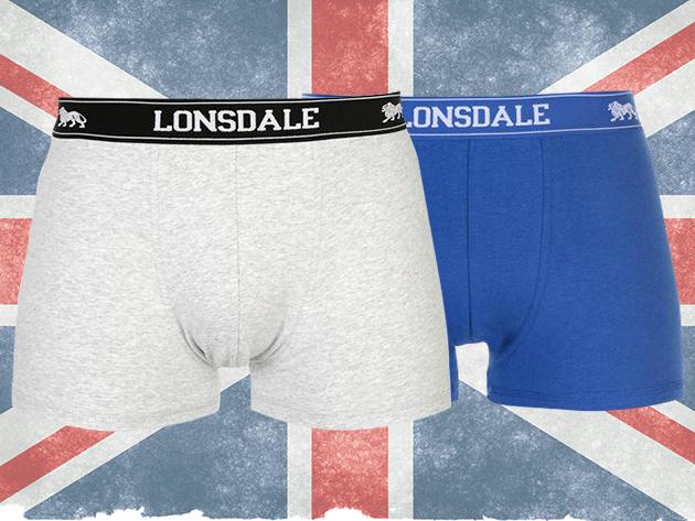 Lonsdale férfi boxer szett (2db/csomag) - puha pamut anyag, minőségi és kényelmes alsónadrág több színben (S-XXXL)