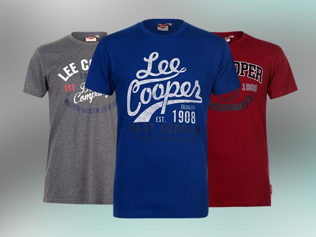 Lee Cooper Vintage férfi póló -  pamut anyag, klasszikus szabás (M-XXL)