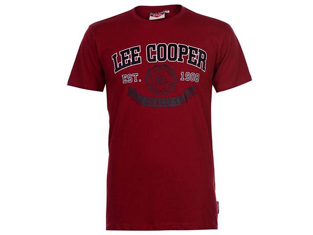 Lee Cooper Vintage férfi póló - Vintage piros - 59059608 - S