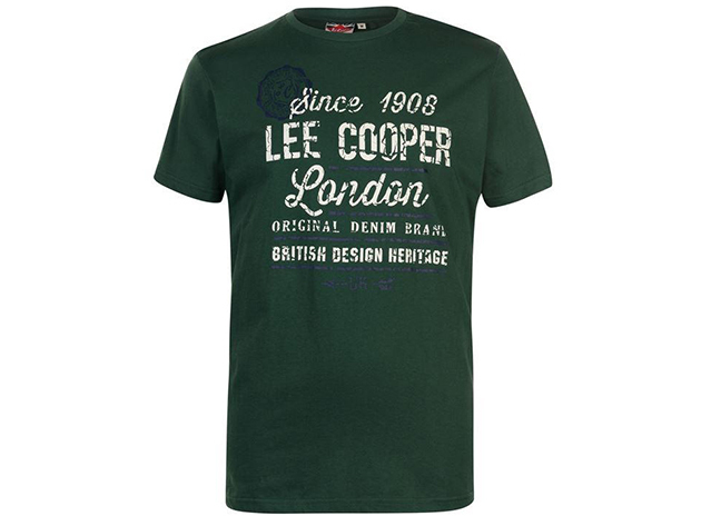 Lee Cooper Vintage férfi póló - Zöld - 59059616 - S
